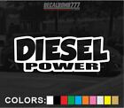 Diesel Power Outline Decal Sticker Vinyl Turbo Diesel Blower Truck Lift Style1