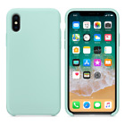 For Apple iPhone XS Max Case Genuine Cleanable Silicone Soft Liquid Luxury Cover