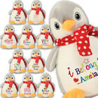 Large Penguin Personalised Soft Plush Penguin Teddy Embroidered & your Name