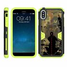For Apple iPhone XS Heavy Duty Armor Hybrid Holster Clip Case Green