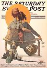 VTG Norman Rockwell Art Print Saturday Evening Post LOVE ROMANCE ** SEE VARIETY