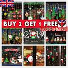 Christmas Xmas Santa Removable Window Stickers Art Decal Wall Home Shop Decor Bl