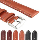 Genuine Leather Watch Strap Band Watchband TWISTER Mens Stainless Steel Buckle image