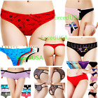 Lot 8 Women Panties Underwear Panty Bikini Lace Cotton Thong Briefs Floral Sexy