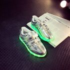 Kids Boys Girls LED Luminous Shoes Flashing USB Rechargeable Sneakers lot GR