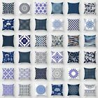 Polyester Blue and white porcelain pattern Sofa Decor Pillow Case Cushion Cover