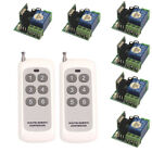 Wireless Relay Switch 12V Universal Remote Control Learning Code Switch 6 Module