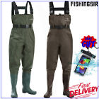 Kyпить FISHINGSIR PVC NYLON 2-PLY Chest Waders Rubber Boot Foot Waders w/ Cleated Sole на еВаy.соm