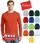 Hanes Tagless Long Sleeve T-Shirt Comfort Cotton Soft Plain Blank Tee Mens 5586 image