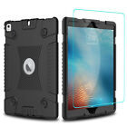 For iPad 9.7 inch 2018 6th Generation Silicone Case Cover With Screen Protector