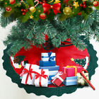 Внешний вид - Christmas Tree Skirt Floor Mat Cover Stands Apron Rug Xmas Party Home Decor