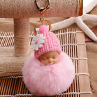 1Pc Fur Fluffy Pompom Sleeping Baby Plush Doll Key Chains Decor Acces GiftsKey Ring Watches - 173699