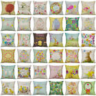 Easter Pattern Cotton Linen Soft Home Decorative Pillow Case Cushion Cover 18""