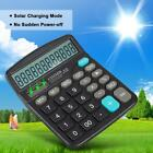 12 Digital Solar Power Electronic Calculator Desktop Home Office Count Business