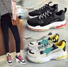 Plus Womens Chunky Trainers Breathable Sneakers Casual Athletic Mesh Dad Shoes