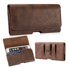 Horizontal Leather Pouch with Belt Clip Case Cover for iPhone XS Max 6 7 8 Plus