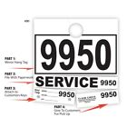 1000 Auto Service Department Dispatch Mirror Hang Tags 4 Part w/ Car Key Tag