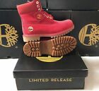 NEW TIMBERLAND BOOTS FOR MEN 6 INCH PREMIUM WATERPROOF LIMITED RELEASE RED