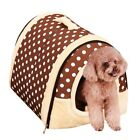 Soft Leopard Pet Dog Cat Bed House Kennel Doggy Puppy Warm Cushion Basket Pad US