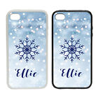 Personalised Blue Snowflake - Rubber or Plastic Phone Case #2  Fashion Gift