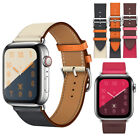 Leather Wrist Strap Apple Watch Band 38/40mm 42mm 44mm for iWatch Series 4/3/2/1 image