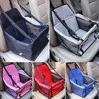 Foldable Pet Dog Car Seat Front Rear Basket Sided Bag Safty Belt Travel Carrier