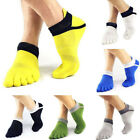 Five Finger Toe Cotton Socks Mens Low Cut Sports Trainer Running Sock Breathable