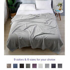 Soft Large Flannel Velvet Throw Blanket Bedding Rectangular Rug Gift All Colors image