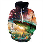 lovers Hoodie Galaxy 3D Print Sweater Sweatshirt Jacket Coat Pullover Tops Lot
