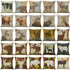 Animal Deer Bear Cotton Linen Soft Home Decorative Pillow Case Cushion Cover 18""