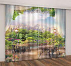 Beautiful Balcony View Blockout 3D Window Curtains Mountain Home Drapes 2 Panel