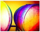 Giclee Art Prints Colorful Wine Barrels Barrel Blue Yellow Red Original Painting