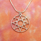 Octagram Necklace, Pure 304 Stainless 8 Point Star Of Ishtar Innana Venus Charm