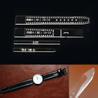 Blesiya 4pcs DIY Watch Strap Band Leather Craft Acrylic Template Stencil