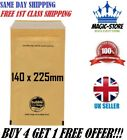 GOLD PADDED BUBBLE LINED ENVELOPES BAG POSTAL MAILER WRAP HIGH QUALITY 140x225MM