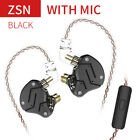KZ ZSN in-Ear Earphones 1DD+1BA HiFi Monitor Headphone Noise Cancelling Headset