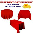 Red Tablecloth Christmas Party Small Big Sizes Rectangular Round Square Sale