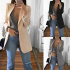 Women Casual Mid Long Trench Coat Fashion Lapel Slim Fit Cardigan Outdoor Jacket