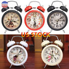 Household Retro Double Bell Alarm Clock Round Number Desk Table Home Decor US