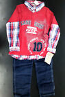 Boys Little Rebels 2pc Red Layered-Look Set Size 5 - 6