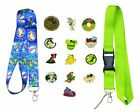 Peter Pan Themed Starter Lanyard Set with 5 Disney Park Trading Pins - Brand NEW