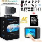 2018 AKASO V50 Pro HD 4K 20MP WiFi Action Camera LCD Touch Screen  32G SD Card
