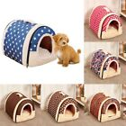Pet Dog Cat Bed House Portable Warmer  Kennel Cave Nest Pad Cushion Washable