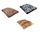 Fleece Animal Skin Design Warm Dog Bed Pet Washable Zipped with Cushion Assorted