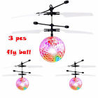 10X Hand Flying UFO Helicopter Ball LED Hovering Saucer Infrared Sensor Floating