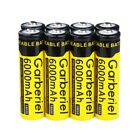 Lot 18650 Battery 6000mAh Li-ion 3.7V Rechargeable Batteries for LED Flashlight