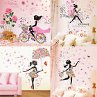 Diy Wall Stickers Flowers Girl Bedroom Wall Mural Decor Nursery Vinyl Decal Uk
