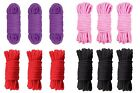3 x 10 Meters Japanese Bondage Soft Cotton Rope Restraint Role Play - Black Red