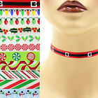 Christmas Choker 3/8 inch Custom Necklace 10 mm winter holiday designs red green