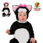 Infant Toddler Black Cat Costume Child Mini Meow Kitty Halloween Party Outfit